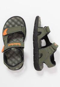 Timberland - PERKINS ROW 2 STRAP - Walking sandals - dark green - 0