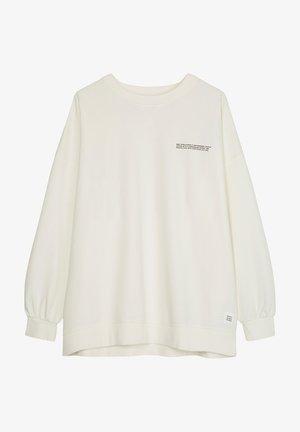WIDE SLEEVES CREWNECK - Sweatshirt - scandinavian white