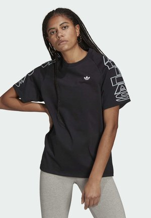 LOOSE TREFOIL MOMENTS - Print T-shirt - black