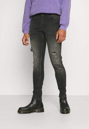 BARCELONA DESTROY - Skinny džíny - black stone