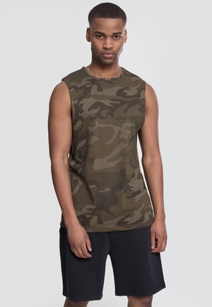 Top - olive camo