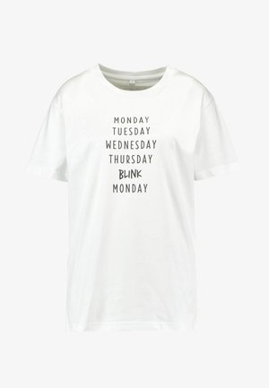 LADIES BLINK TEE - Print T-shirt - white