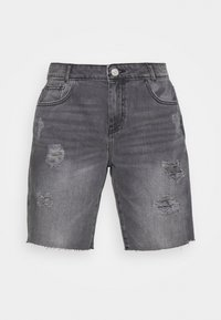 Noisy May - NMLUCKY LONGBOARDER - Shorts di jeans - black