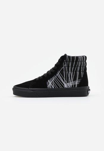 SK8 UNISEX  - High-top trainers - black/true white