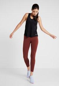 Nike Performance - MILER TANK BREATHE - Sports shirt - black/reflective silver - 1