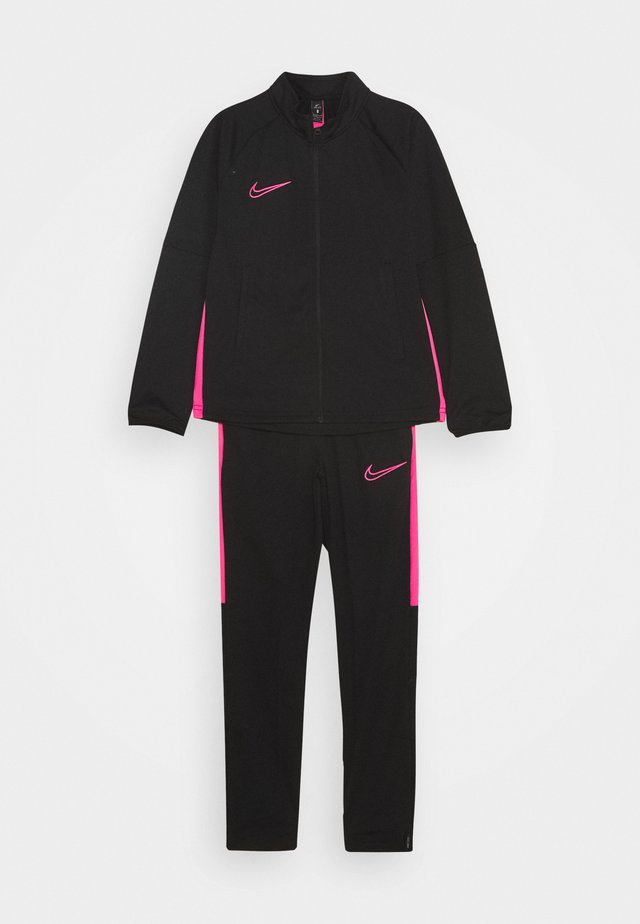 DRY ACADEMY SUIT - Tracksuit - black/hyper pink