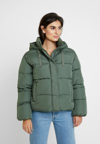 GAP - V-MIDWEIGHT NOVELTY PUFFER - Winter jacket - cool olive - 0