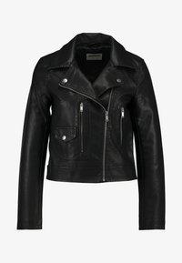 Noisy May - Faux leather jacket - black - 3