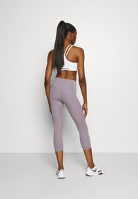 Under Armour - RUSH CROP - Leggings - slate purple - 2
