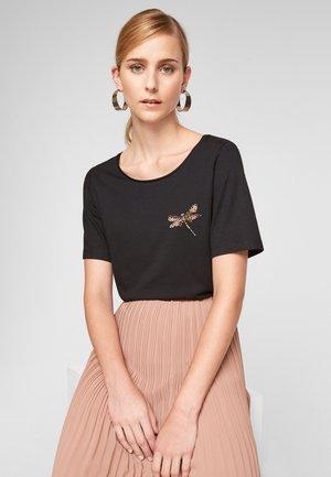 PERLES - Basic T-shirt - black