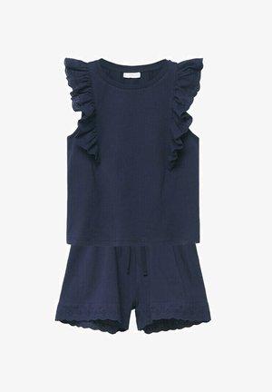 CORTO  RICAMO - Pyjama set - blu marino scuro