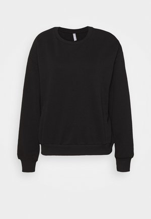 CREWNECK OVERSIZED - Collegepaita - black