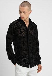 Twisted Tailor - HOBBES SHIRT REGULAR FIT - Camicia - black - 0