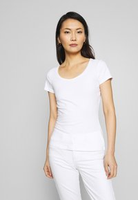 Anna Field - 2ER PACK  - Camiseta estampada - navy/white - 4