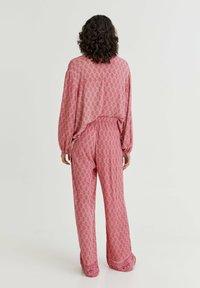PULL&BEAR - Trousers - mottled light pink - 2