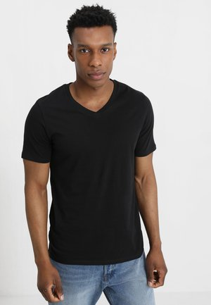 JJEPLAIN  - T-shirt - bas - black