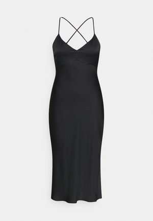 CROSS BACK MIDI DRESS - Juhlamekko - black