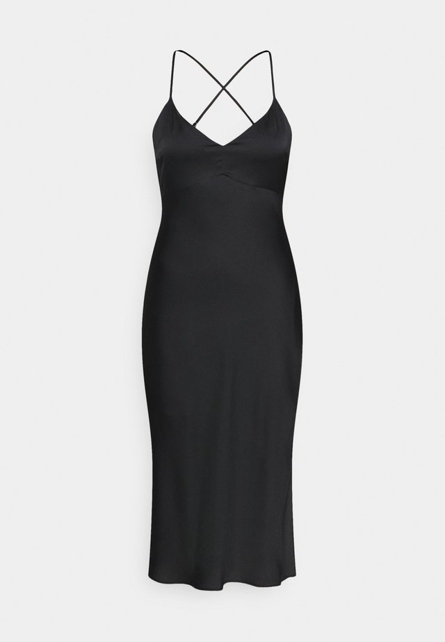 CROSS BACK MIDI DRESS - Cocktail dress / Party dress - black
