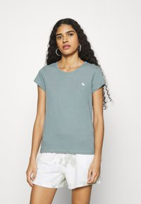 Abercrombie & Fitch - CREW 3 PACK - Jednoduché triko - pink/teal/white - 1