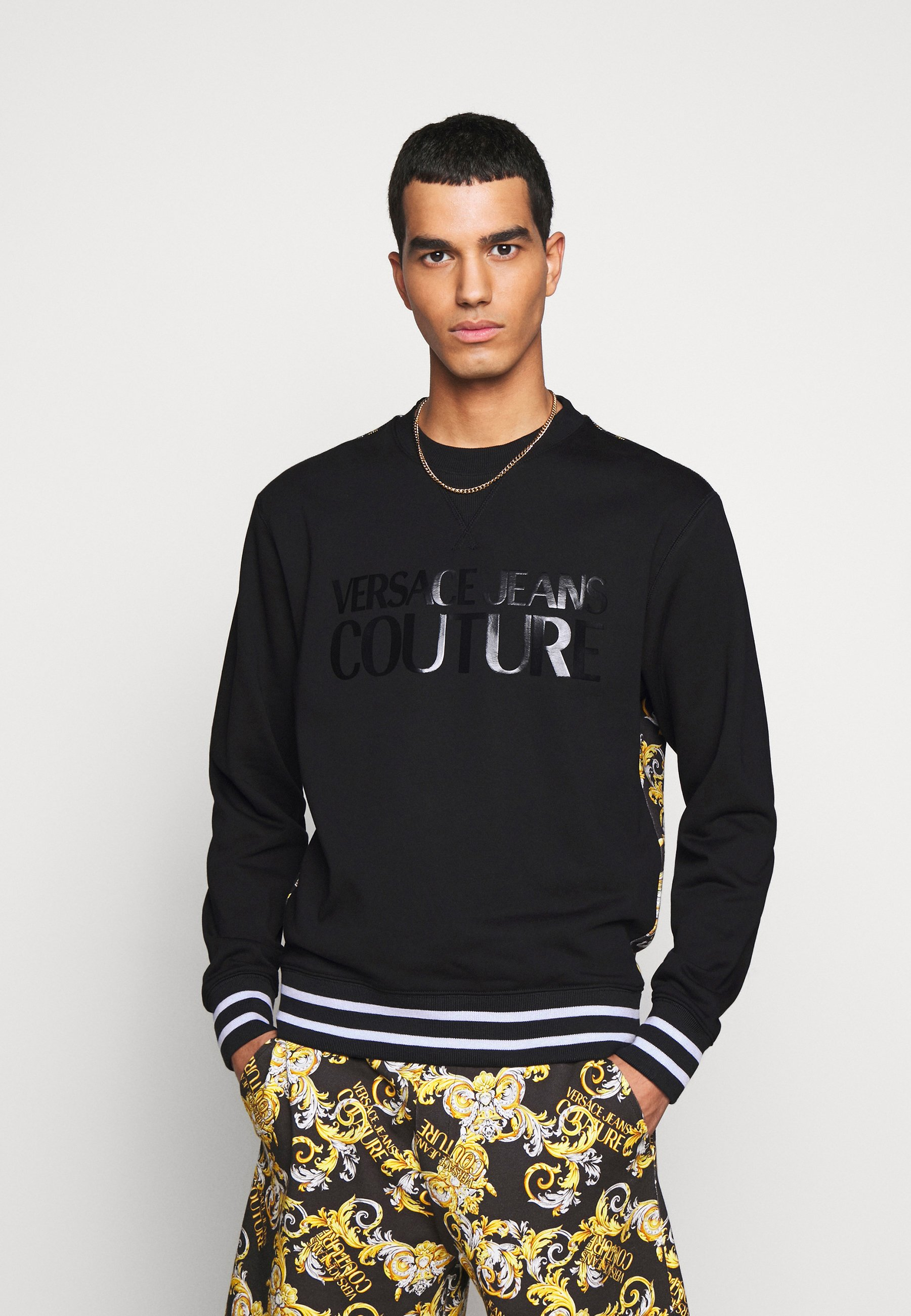 Versace Jeans Couture PRINT NEW LOGO Sweater neroZwart