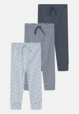 3 PACK - Trousers - blue heather