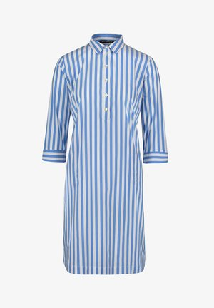 Shirt dress - blau/weiß