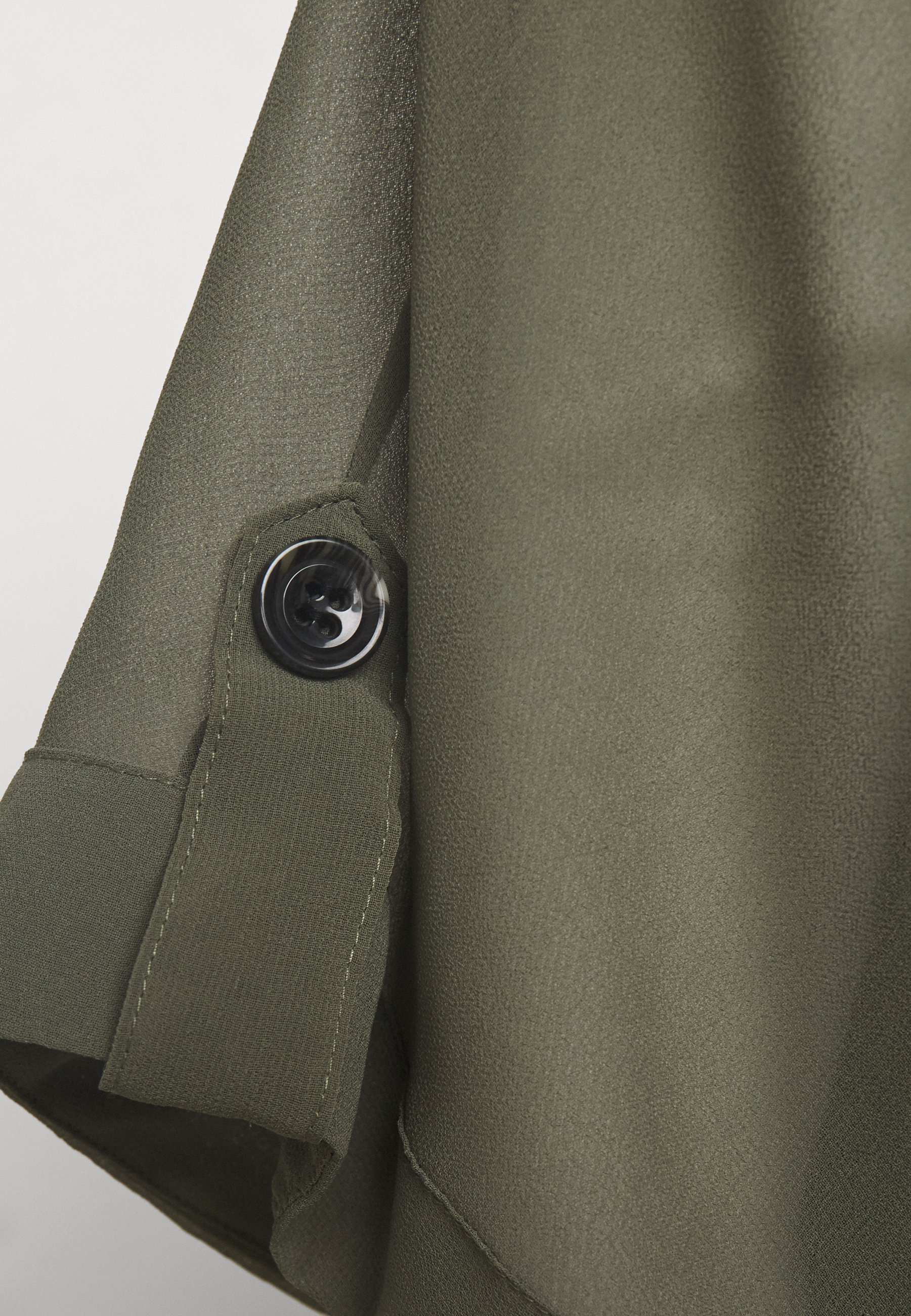 Wallis Button Tab Sleeve Overlayer - Bluser Khaki