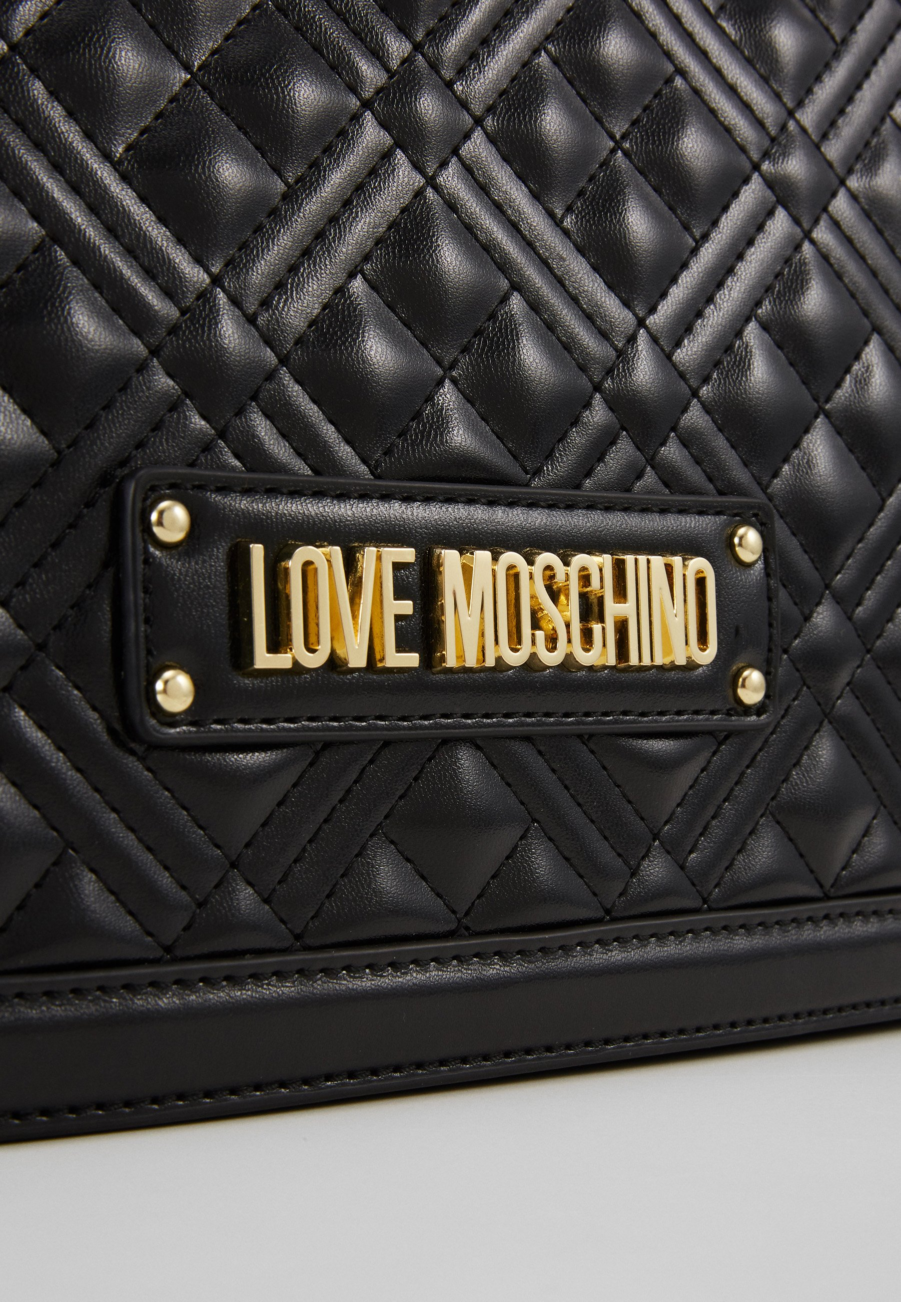 Love Moschino BORSA QUILTED - Håndveske - black/svart 91DzxUm6yKnesh1