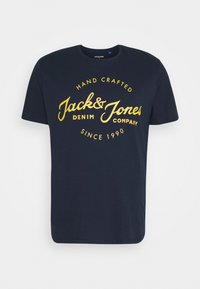 Jack & Jones - JJHERO TEE CREW NECK - T-shirt print - navy blazer - 0