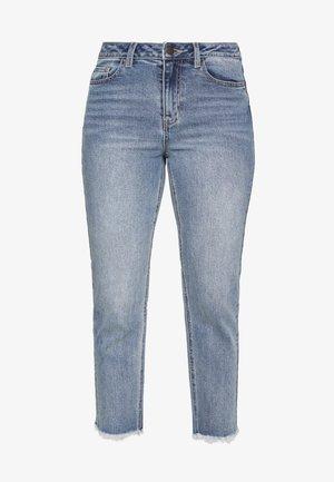 OBJZANA - Slim fit jeans - light blue denim