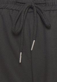 Missguided Plus - WIDE LEG CASUAL TROUSER - Spodnie materiałowe - black - 6