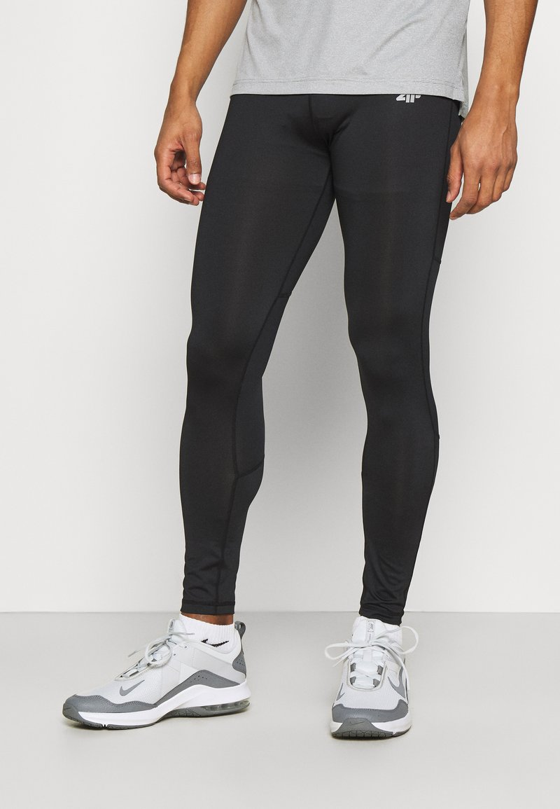 4F - Men's training leggings - Leggings - black