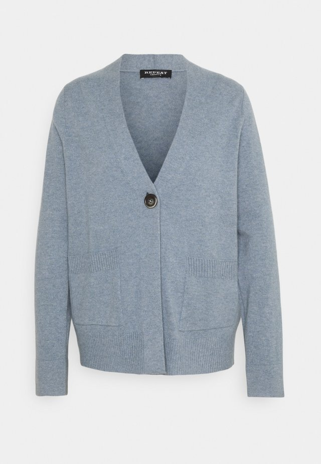 Strickjacke - dusty blue