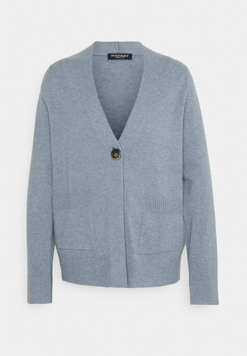 Repeat - Cardigan - dusty blue