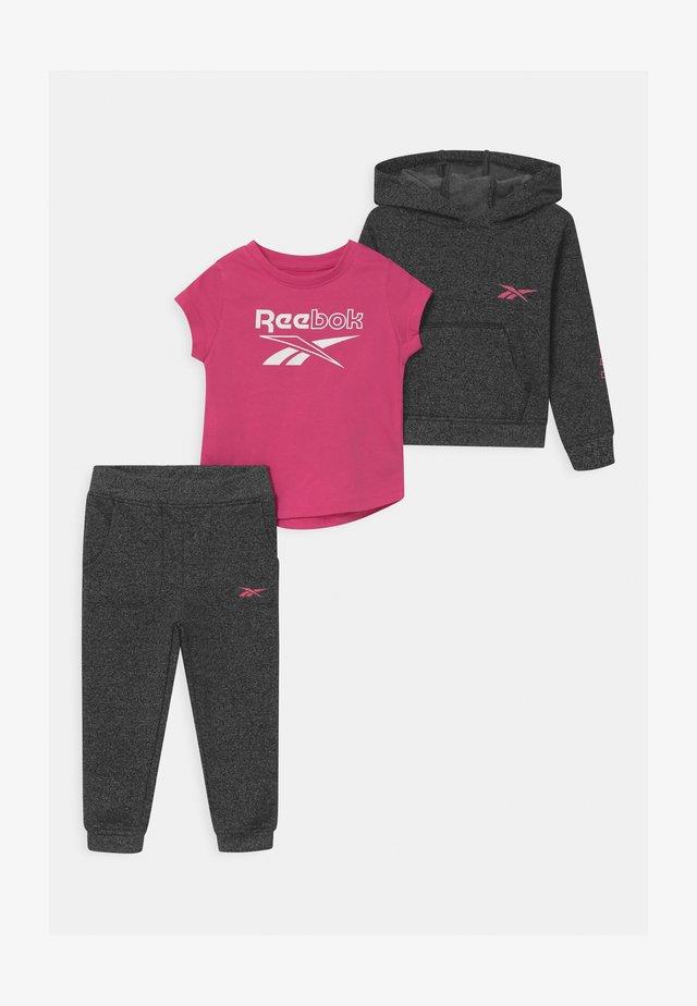 SET  - Tracksuit - mottled grey/pink