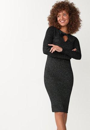 TWIST NECK - Shift dress - black