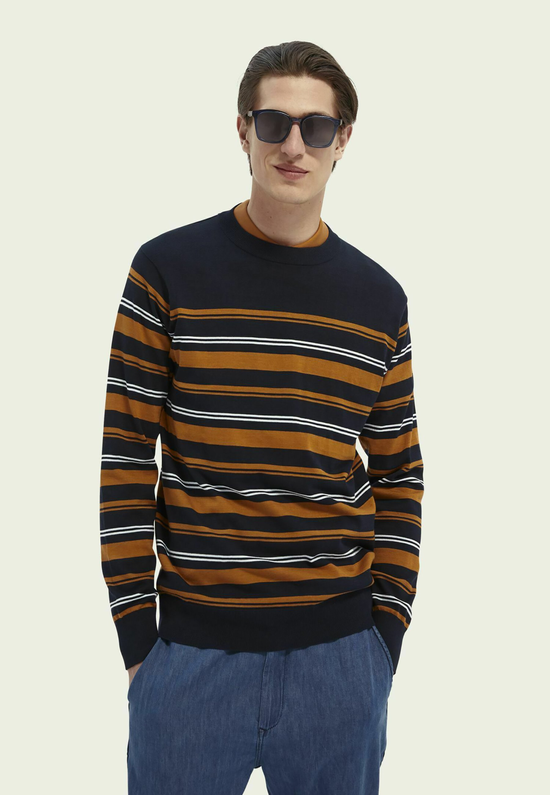 Homme STRIPED COTTON CREWNECK - Sweatshirt