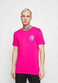 Diesel - UMTEE RANDAL 3 PACK - T-shirt basic - black/pink/grey melange - 3