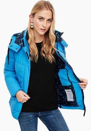 MIT ABNEHMBAREN ÄRMELN - Winter jacket - tourquoise