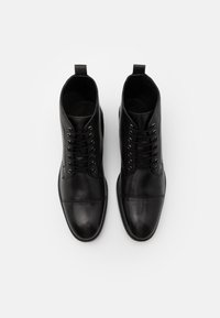 Zign - LEATHER - Lace-up ankle boots - black - 3