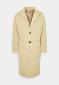 Another Influence - MABEL LONGLINE BORG OVERCOAT - Classic coat - ecru - 3