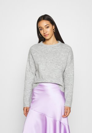 BASIC- SHORT JUMPER - Strikkegenser - light grey