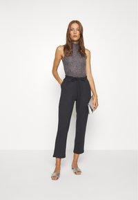 Lounge Nine - SELMA PANTS - Trousers - pitch black - 1