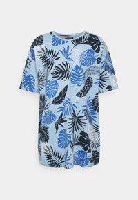 Shine Original - PALM O NECK TEE - Print T-shirt - blue - 0