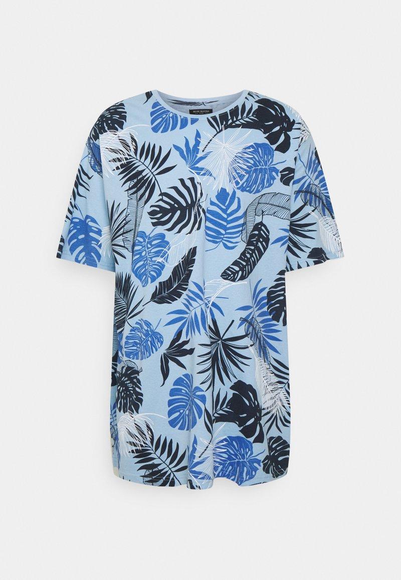 Shine Original - PALM O NECK TEE - Print T-shirt - blue