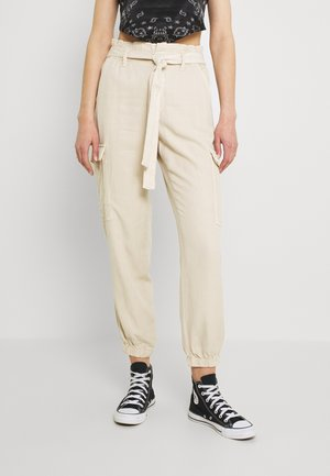 PAPERBAG JOGGER - Cargo trousers - toasted almond