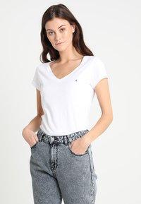 Replay - 2 PACK - Basic T-shirt - white/black - 1