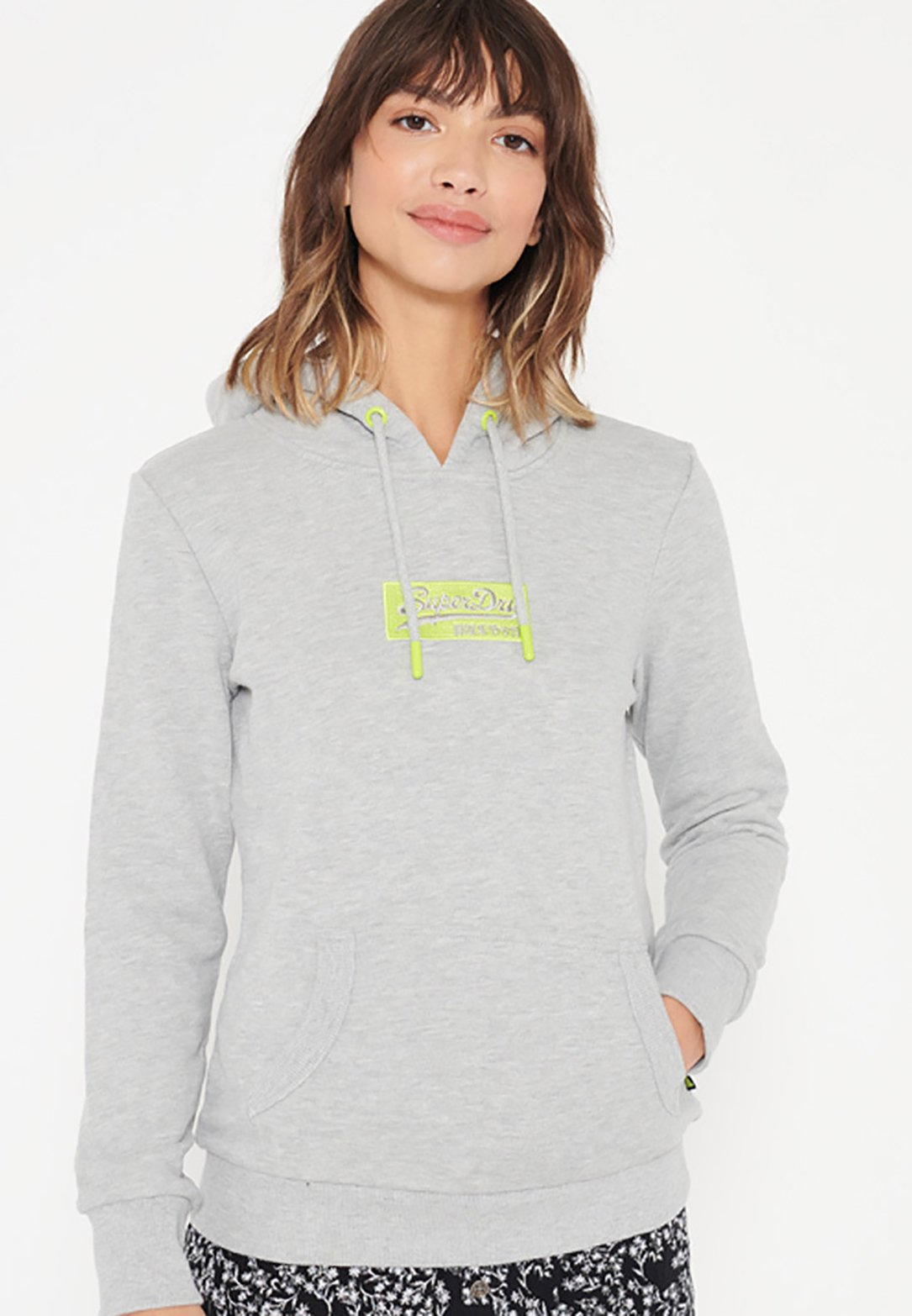 Women MICRO EMBROIDERED BOX LOOPBACK - Hoodie