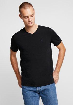 V-NECK TEE - Basic T-shirt - black