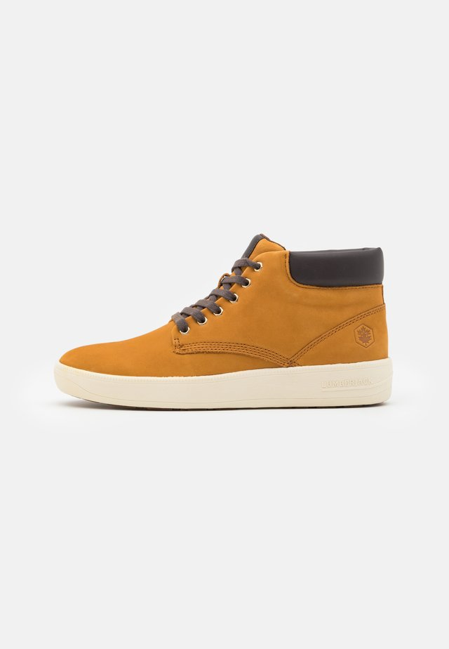 WINTER CHUCK - Sneaker high - yellow/dark brown